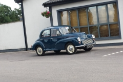 Morris Minor Outside the Club