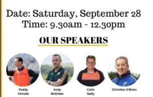Coaching Conference next Saturday from 9:30