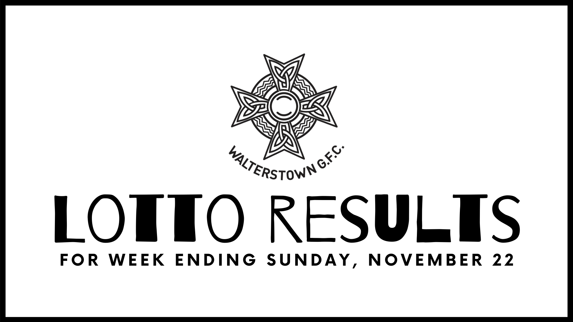 Club Lotto results, Sunday, November 22, 2020