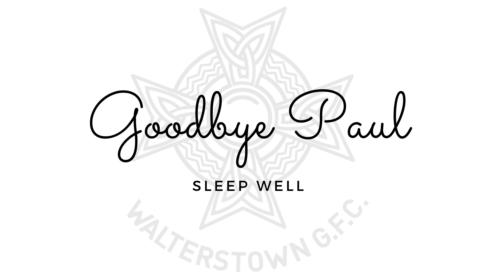 Paul Lanney; Walterstown great passes