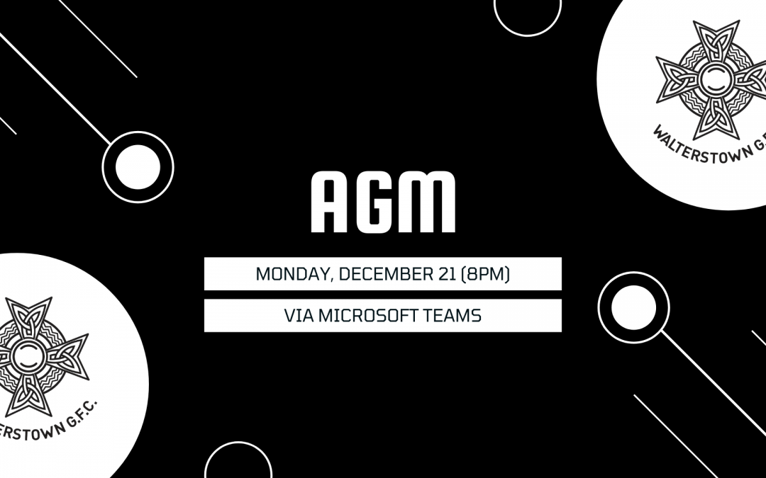 AGM: Monday, December 21 at 8pm