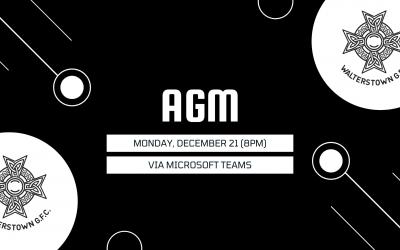 AGM: Monday, December 21 at 8pm