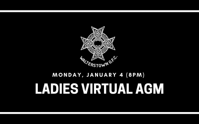 Ladies AGM on January 4 at 8pm