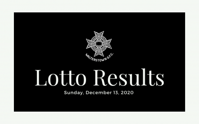 Lotto results for December 13, 2020