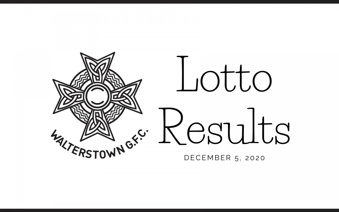 Lotto draw results, Sunday, December 5, 2020