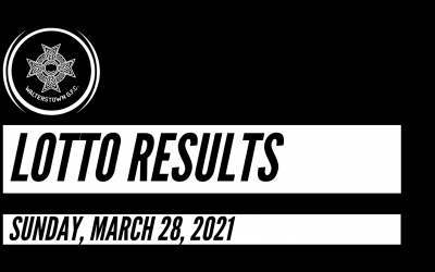 Lotto results for March 28, 2021