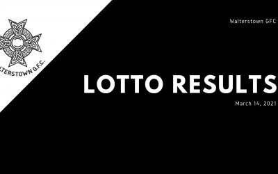 Lotto Results for March 14, 2021