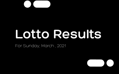 Lotto results for Sunday, March 7, 2021