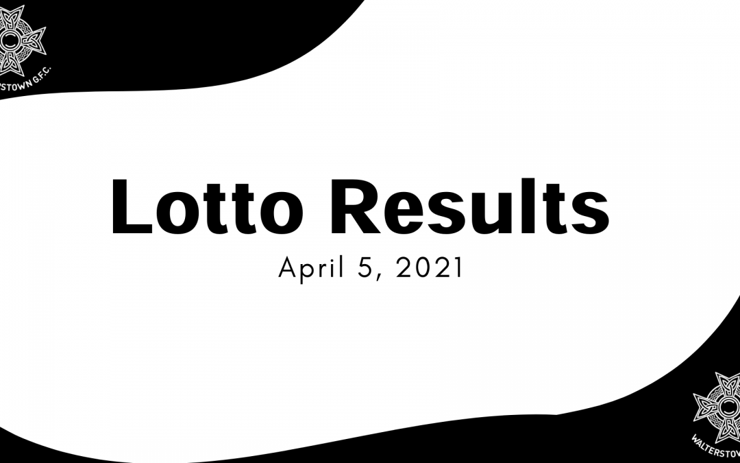 Lotto results, Sunday, April 5, 2021