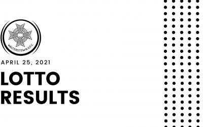 Lotto results, April 25, 2021