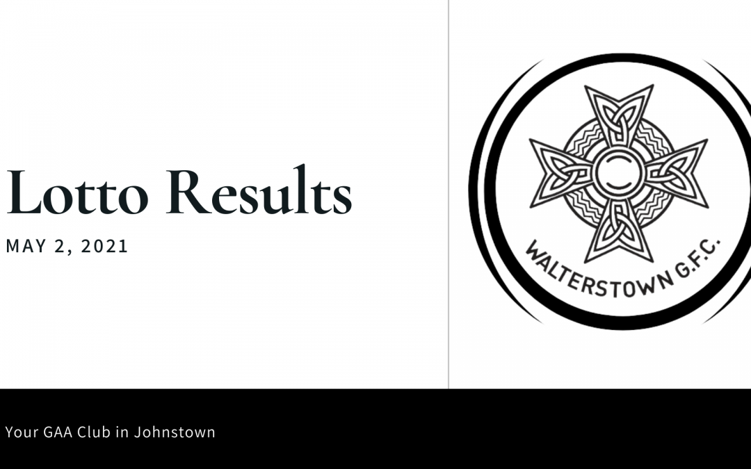 Lotto results for Sunday, May 2, 2021