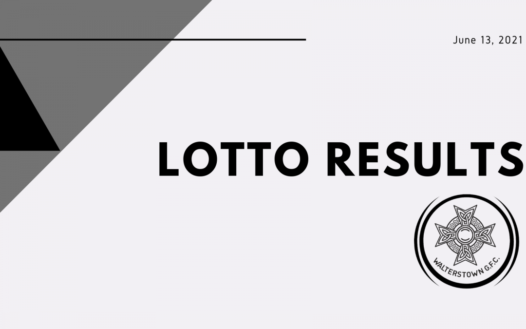 Lotto result for Sunday, June 13