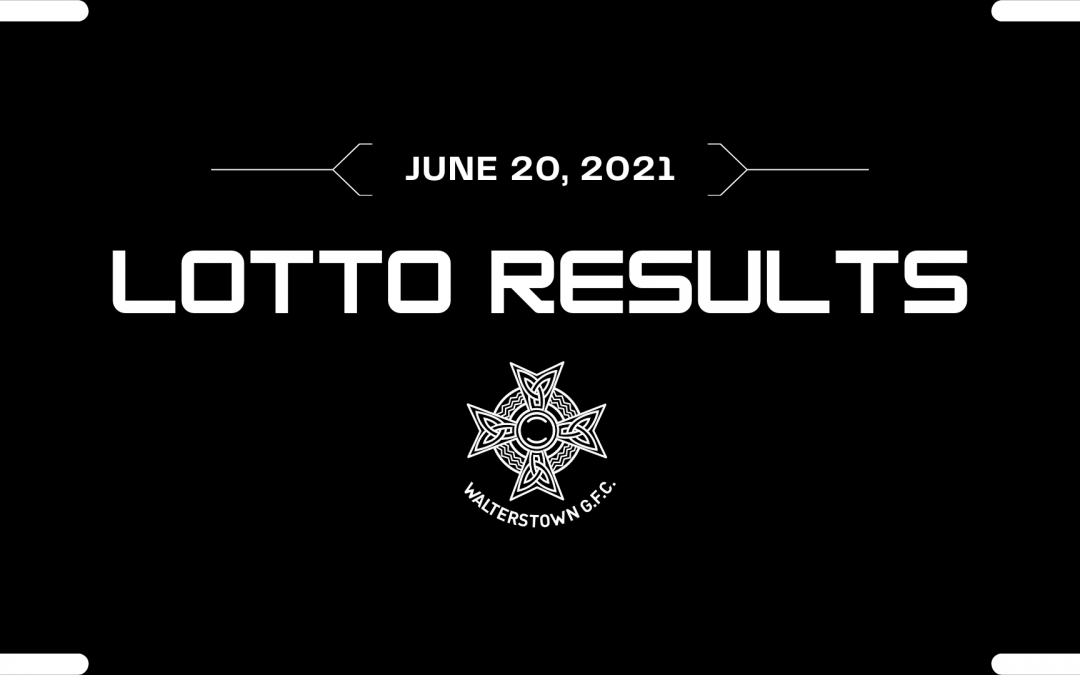 Lotto results for June 20, 2021