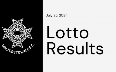 Lotto results for Sunday, July 25, 2021