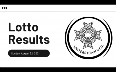 Lotto results for Sunday, August 22, 2021
