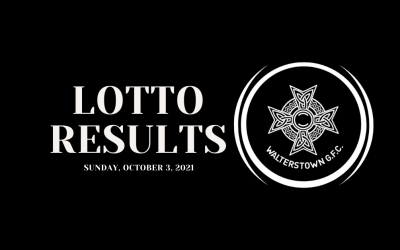 Lotto results for Sunday, October 3, 2021