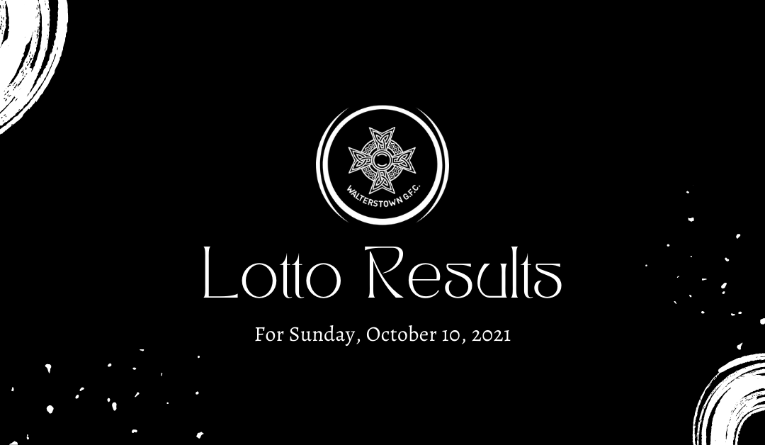 Lotto results October 10, 2021